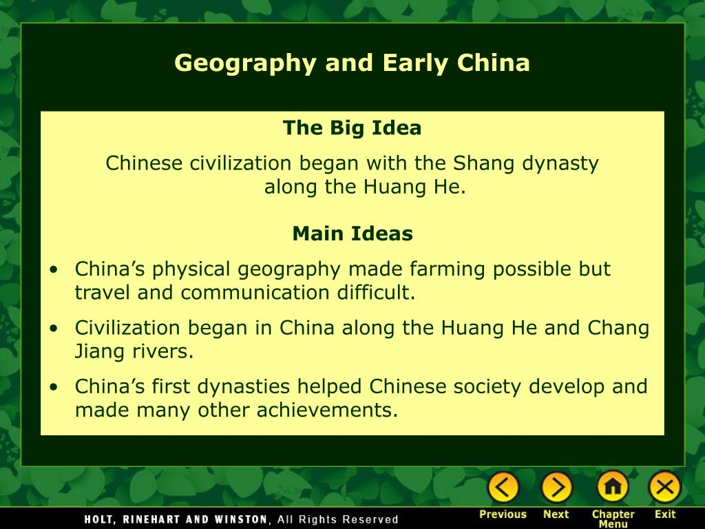 Chinese Geography Ppt Geography And Early China Powerpoint Presentation Id 3761470