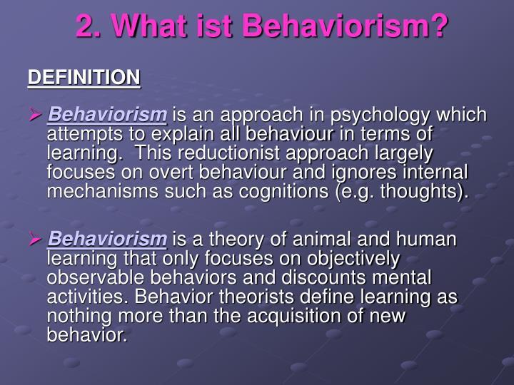 PPT - BEHAVIORISM PowerPoint Presentation - ID3763551