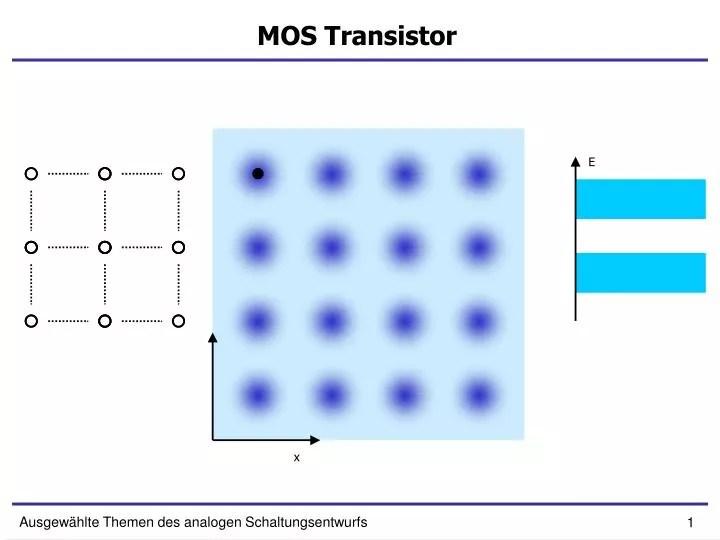 PPT - MOS Transistor PowerPoint Presentation - ID3777598 - mos transistor