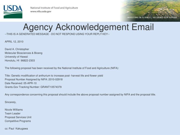 investor rejection letter samples acknowledgementemail