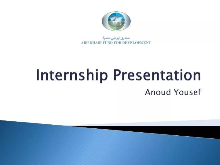 PPT - Internship Presentation PowerPoint Presentation - ID3858896