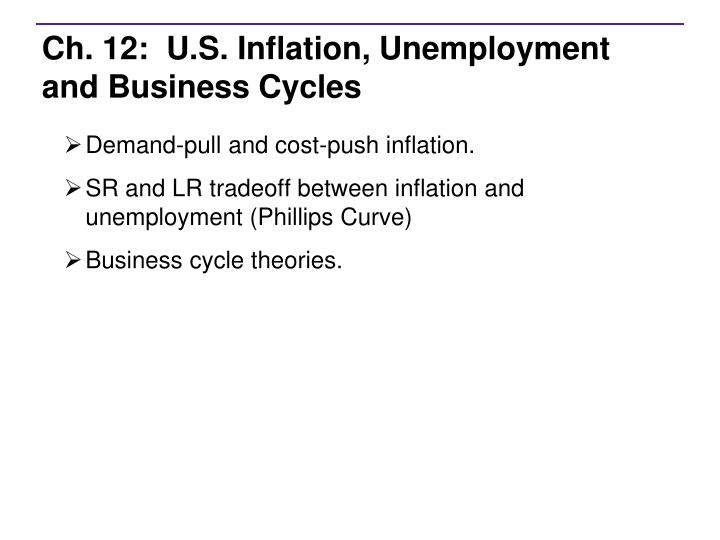 PPT - Ch 12 US Inflation, Unemployment and Business Cycles