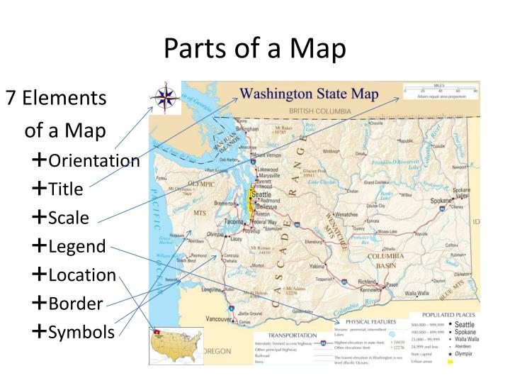 PPT - Parts of a Map PowerPoint Presentation - ID3939320