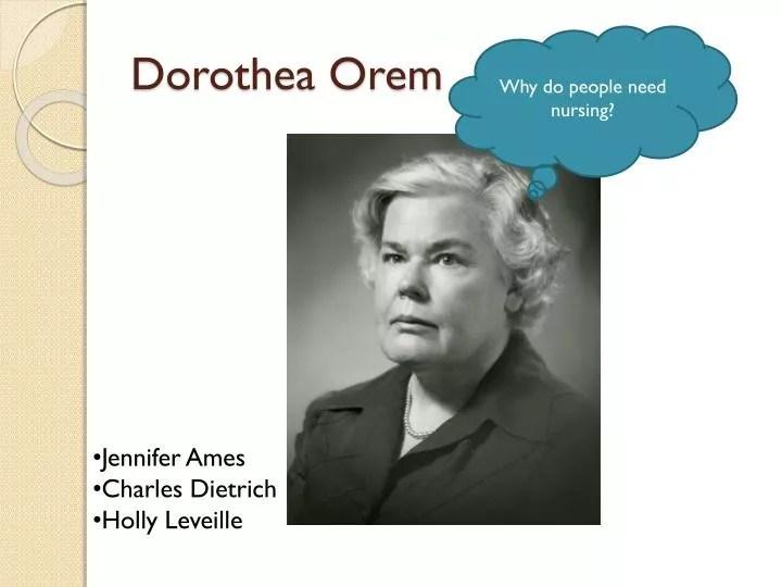 PPT - Dorothea Orem PowerPoint Presentation - ID3977329