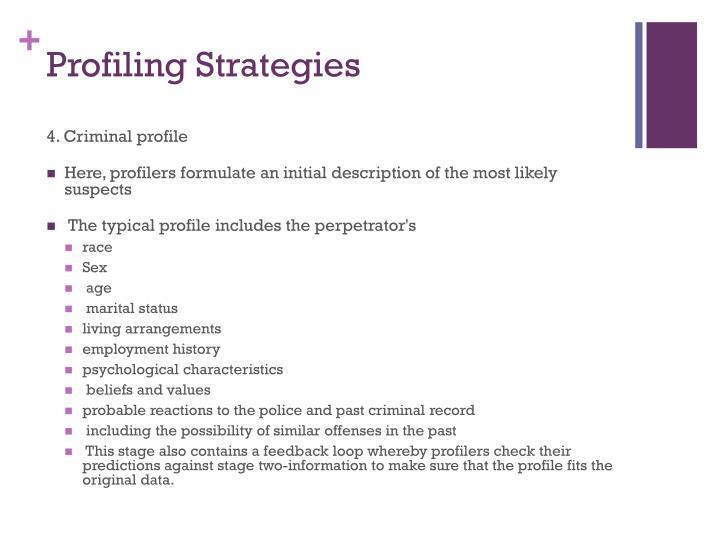 PPT - Criminal Profiling PowerPoint Presentation - ID3987898