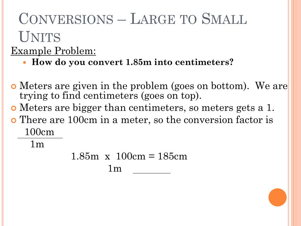 100cm = 1m Ppt Metric Conversions Powerpoint Presentation Id 4023891