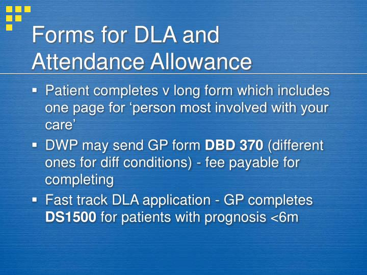 Attendance Allowance Form Lower Rate This Is For Frequent Help Or