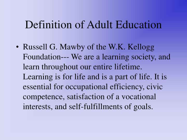 PPT - Foundations of Adult Education in Vocational Education