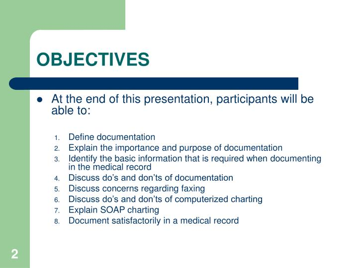 PPT - MEDICAL RECORD DOCUMENTATION PowerPoint Presentation - ID4054050
