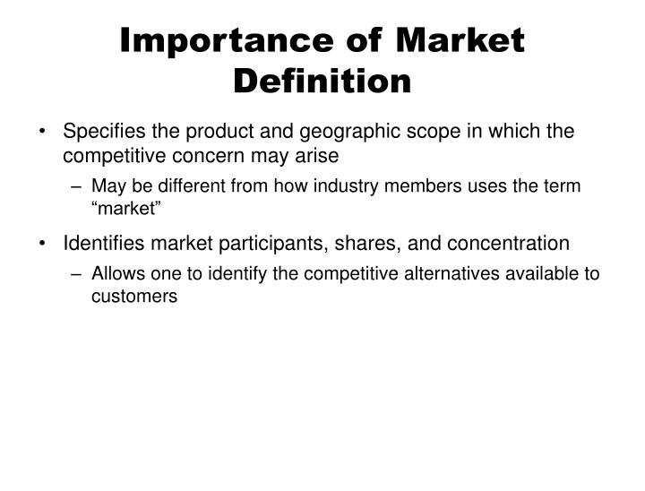 PPT - Market Definition PowerPoint Presentation - ID4125551