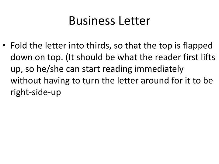 PPT - Business Letter PowerPoint Presentation - ID4158709