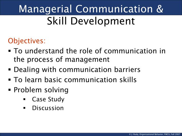 PPT - Managerial Communication  Skill Development PowerPoint