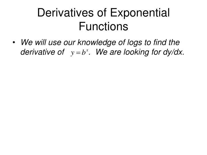 PPT - Derivatives of Exponential and Inverse Trig Functions