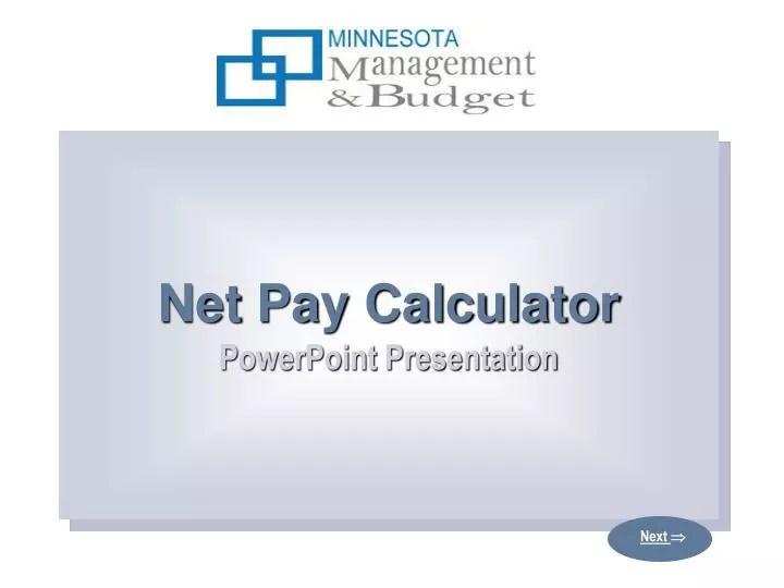 PPT - Net Pay Calculator PowerPoint Presentation PowerPoint - net pay calculator