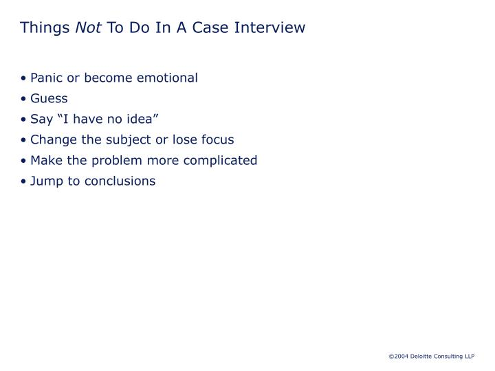 PPT - The Case Interview  PowerPoint Presentation - ID4380944