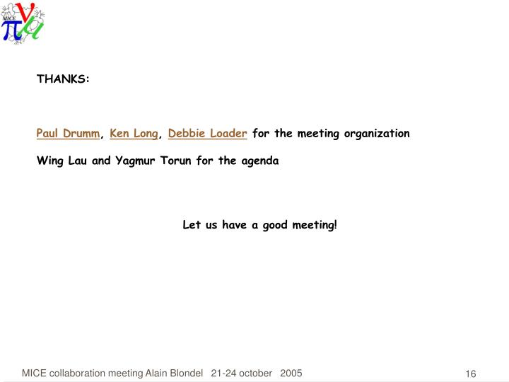 PPT - MICE collaboration meeting 13 at RAL News The international - collaboration meeting agenda