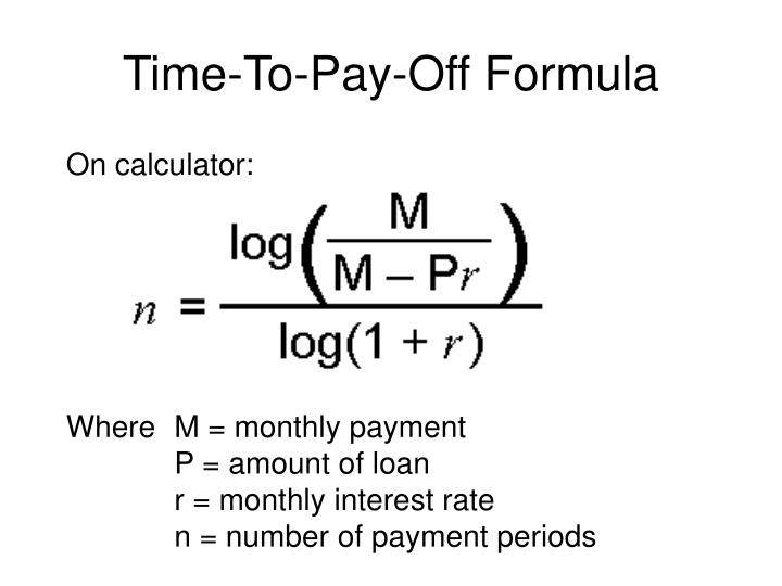 Loan Payoff Formula - Best Photos About Formula SimagesOrg