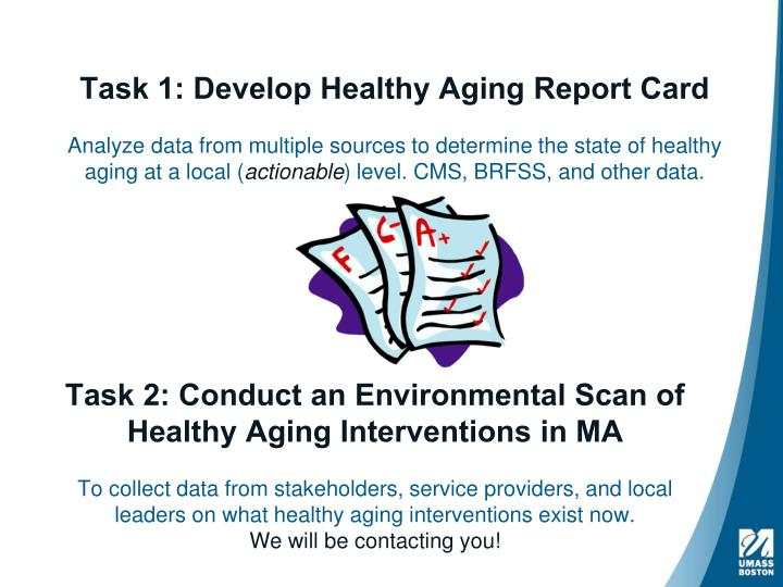 PPT - The Tufts Health Plan Foundation Healthy Aging Report Card