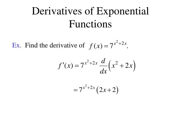 Derivatives Of Exponential Functions differentiation of exponential