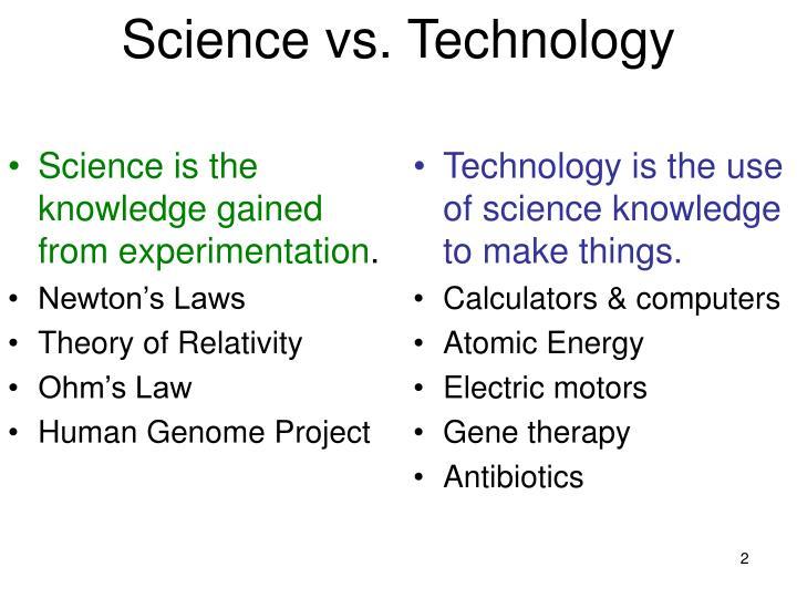 science vs technology - Apmayssconstruction