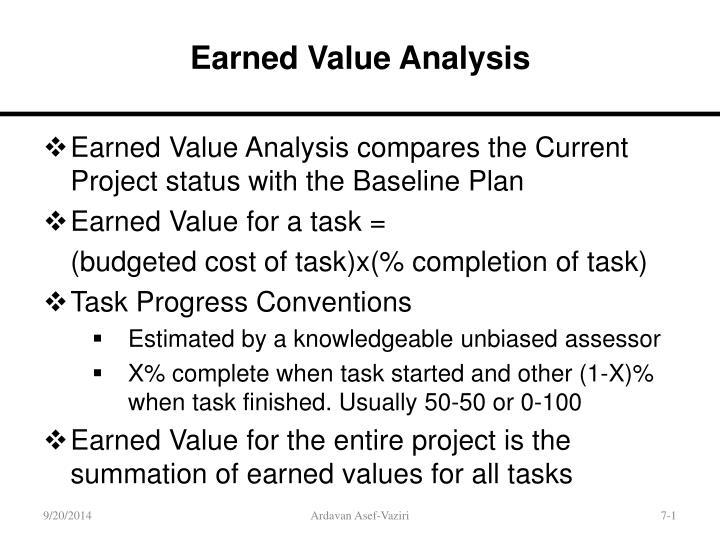 PPT - Earned Value Analysis PowerPoint Presentation - ID4609031