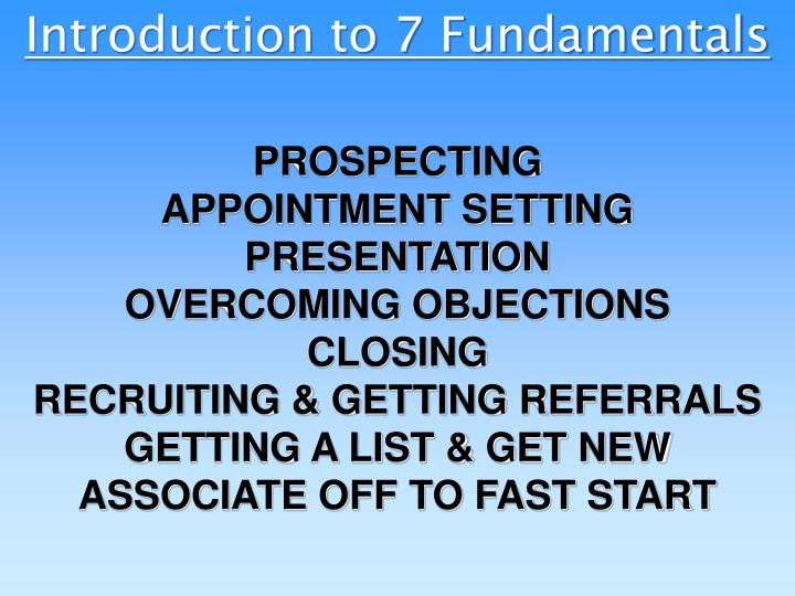 PPT - Introduction to 7 Fundamentals PowerPoint Presentation - ID
