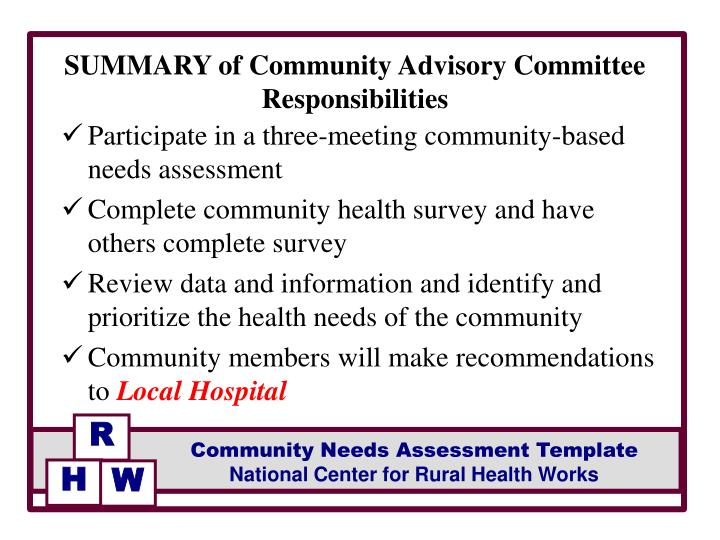 PPT - Facilitated by FACILITATOR Community Health Needs Assessment