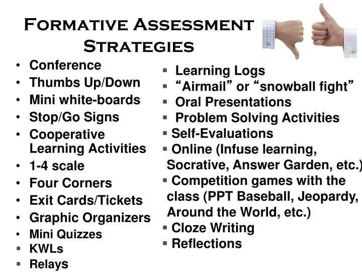 PPT - Formative Assessments in the World Language classroom - formative assessment strategies