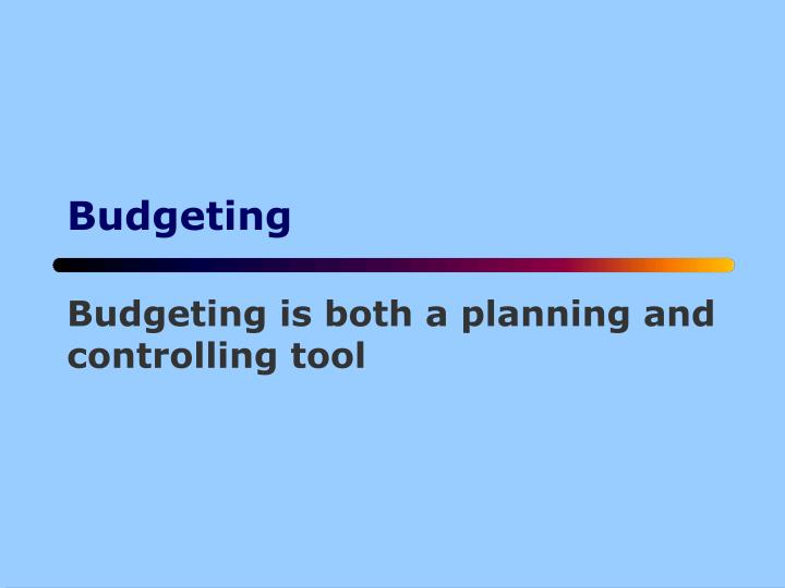 PPT - Budgeting PowerPoint Presentation - ID4732881