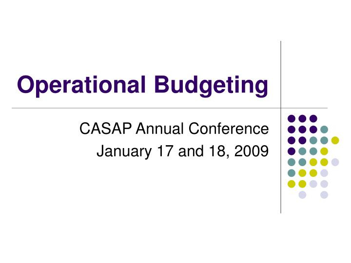 PPT - Operational Budgeting PowerPoint Presentation - ID4733521