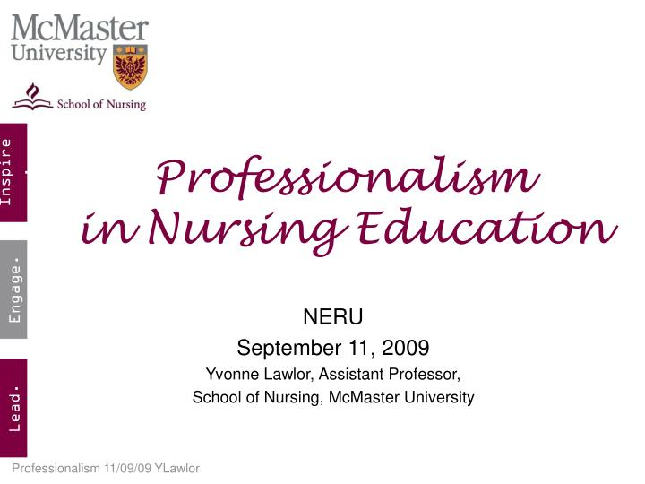 PPT - Professionalism in Nursing Education PowerPoint Presentation