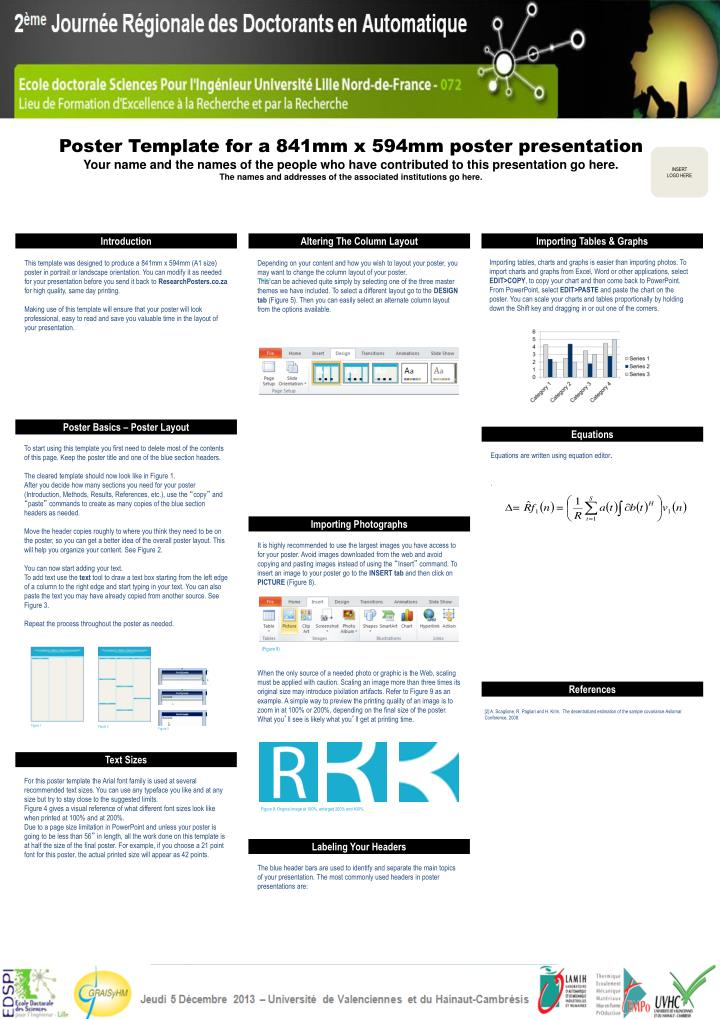 PPT - Poster Template for a 841mm x 594mm poster presentation