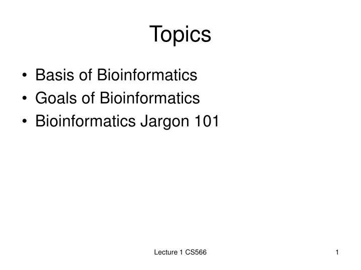PPT - Topics PowerPoint Presentation - ID5086822