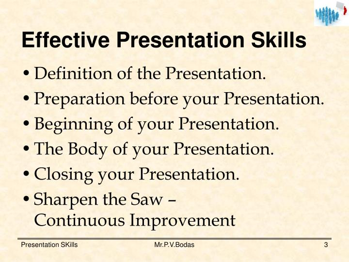 PPT - Effective Presentation Skills PowerPoint Presentation - ID5143950