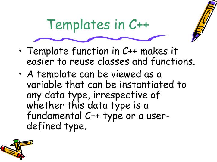 PPT - Templates in C++ PowerPoint Presentation - ID5156915