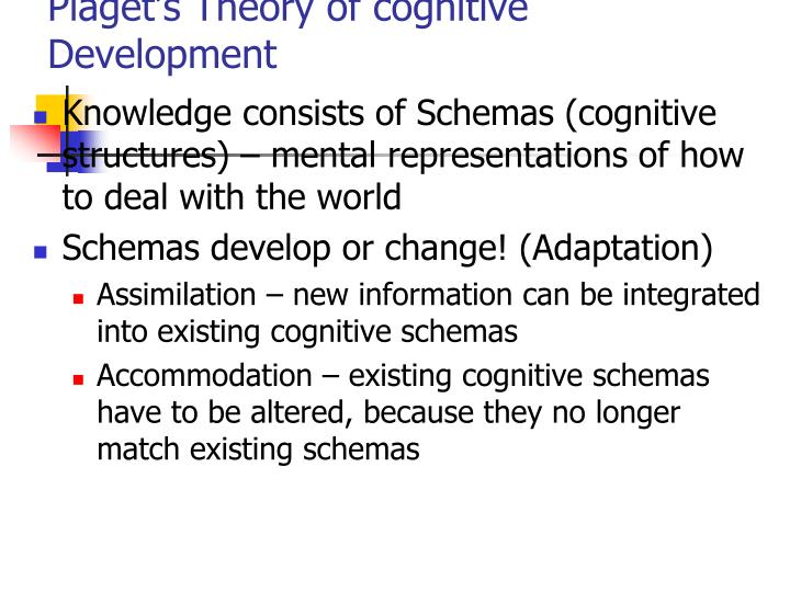 PPT - Piaget\u0027s Theory of cognitive Development PowerPoint