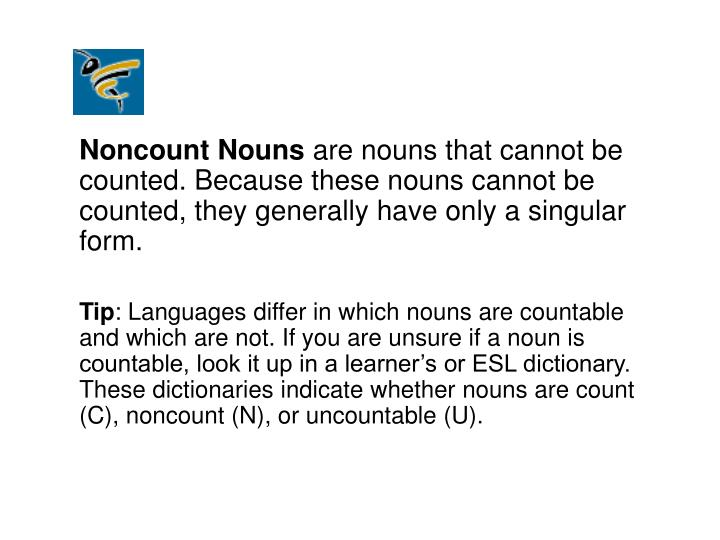 PPT - Number Count and Noncount Nouns PowerPoint Presentation - ID