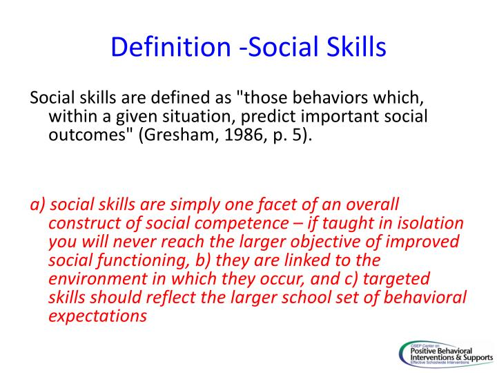 PPT - Small Group Social Skill Instruction as a Tier 2 Intervention