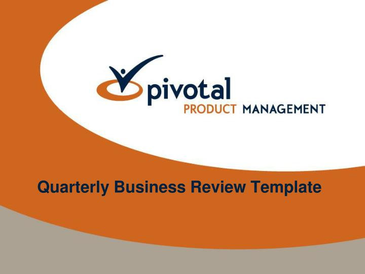 PPT - Quarterly Business Review Template PowerPoint Presentation
