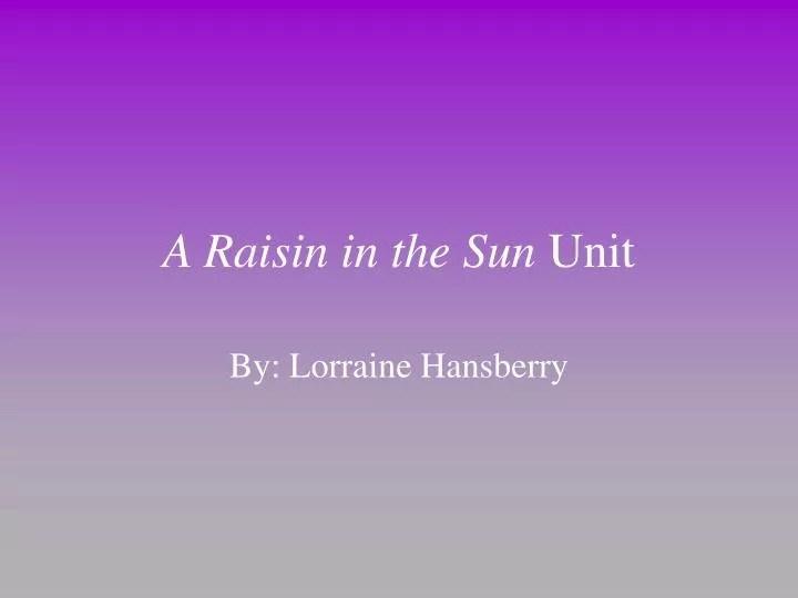 The importance of dreams in a raisin in the sun essay Research paper