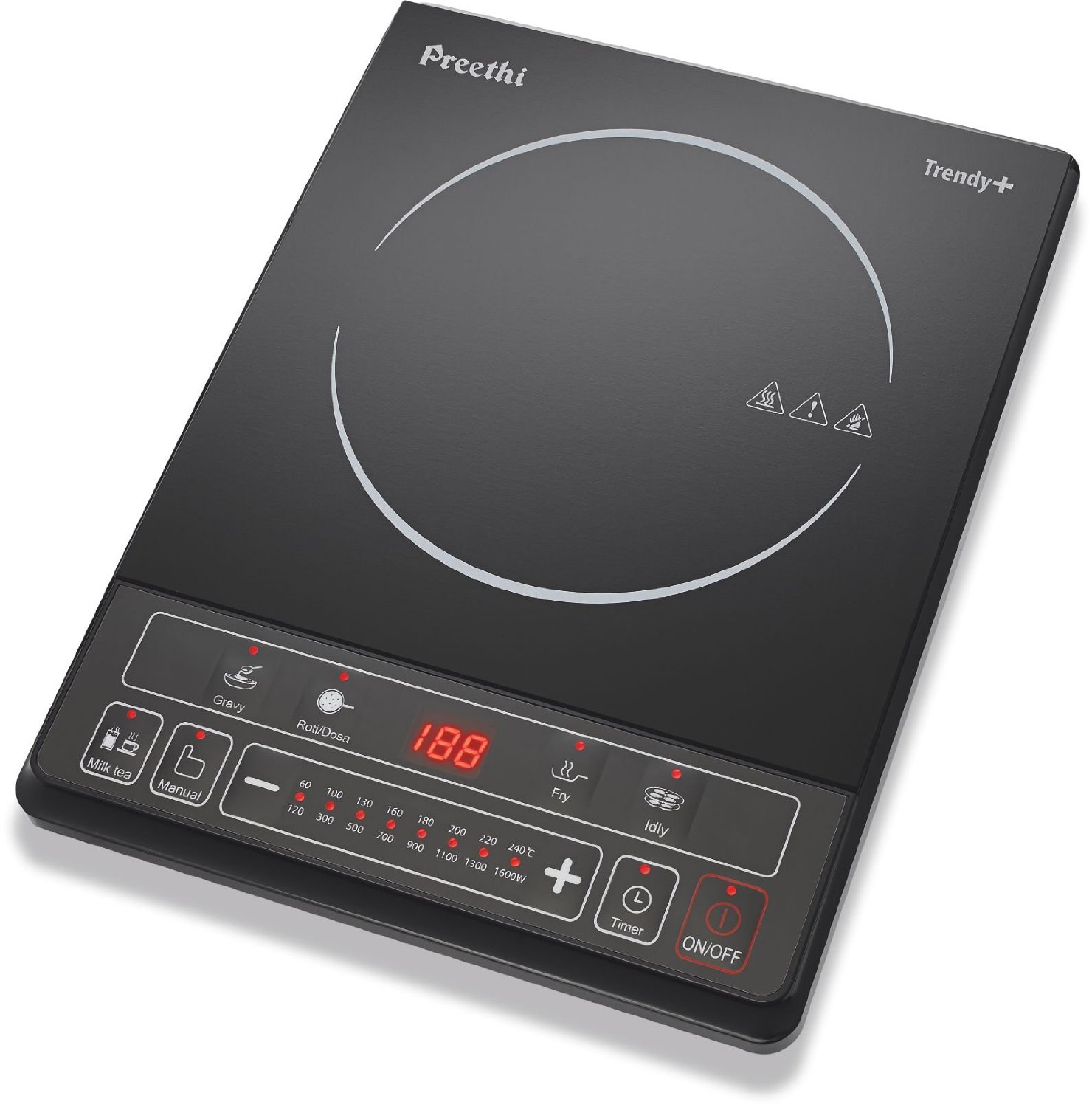 Induction Cooktops Reviews Preethi Trendy Plus 116 1600 Watt Induction Cooktop
