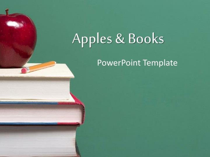 PPT - Apples  Books PowerPoint Presentation - ID5395973