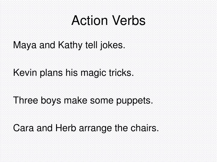 PPT - All About Verbs PowerPoint Presentation - ID5503033