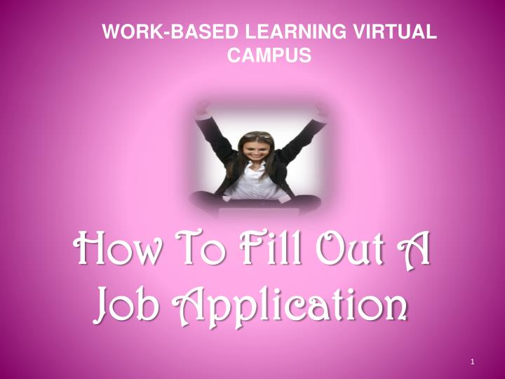 PPT - How To Fill Out A Job Application PowerPoint Presentation - ID