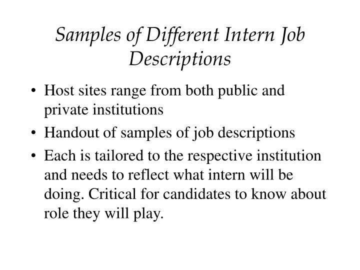 Social Work Intern Job Description Samples - social work intern job description