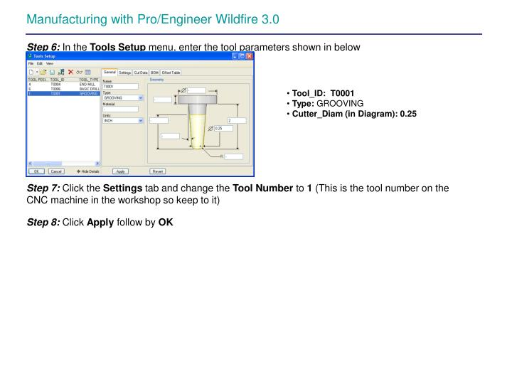 PPT - Manufacturing with Pro/Engineer Wildfire 30 PowerPoint