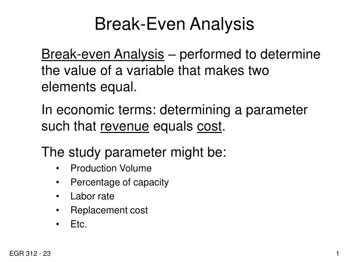PPT - Break-Even Analysis PowerPoint Presentation - ID5569938
