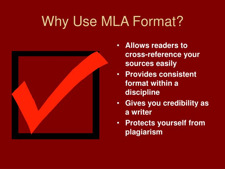 PPT - Using MLA Format PowerPoint Presentation - ID5594749