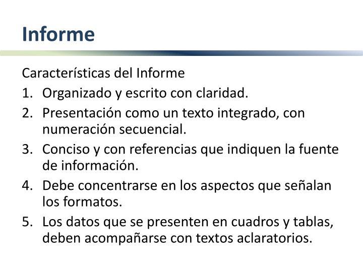 PPT - ELEMENTOS PARA REALIZAR EL INFORME DE AUTOEVALUACIÓN - formato de informe escrito