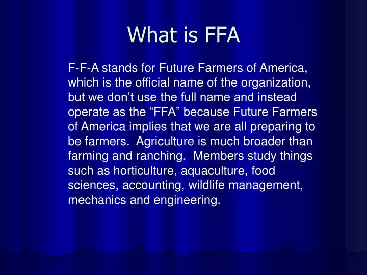 PPT - What is FFA PowerPoint Presentation - ID5627754